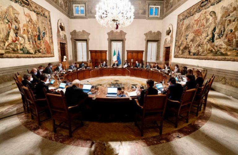 Consiglio Ministri Recovery Plan