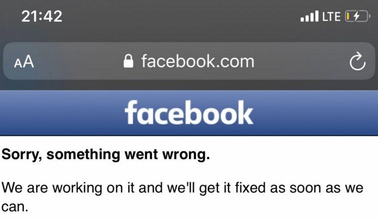 Facebook instagram down