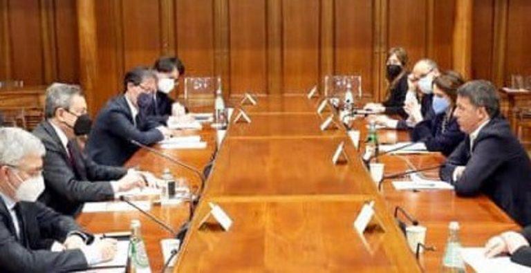 L'incontro della delegazione di IV con Mario Draghi