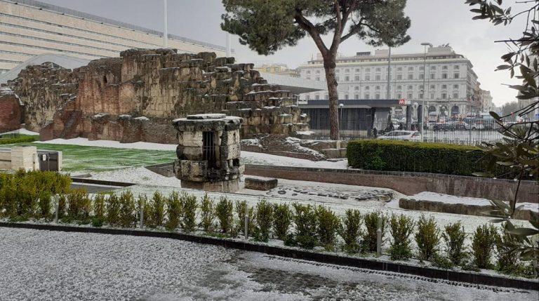 Grandinata a Roma