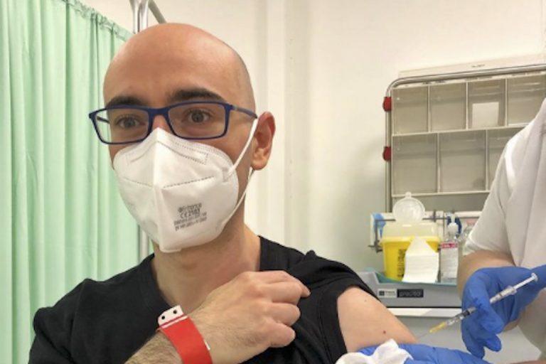 Salvatore Aranzulla vaccinato