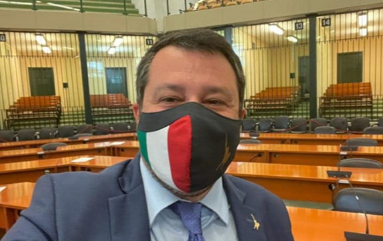 Salvini all'udienza Gup Open Arms