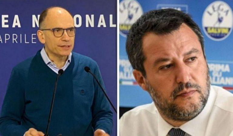Scontro Letta - Salvini