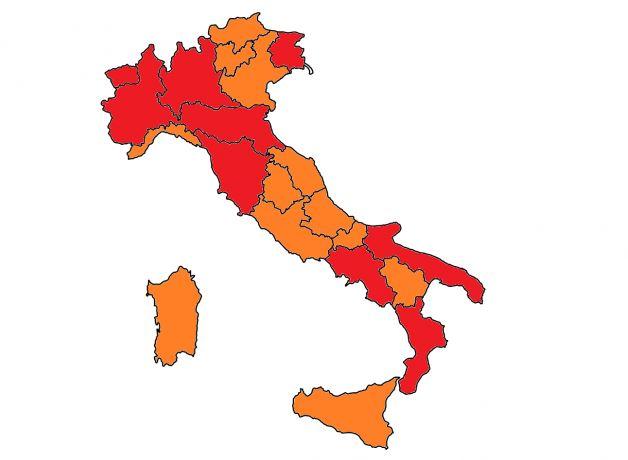 Mappa Italia 6 aprile
