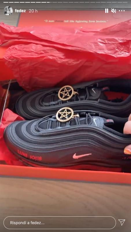 satan shoes fedez