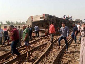 treno deragliato Egitto