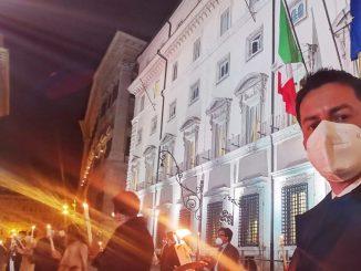 Manifestazione di FdI contro il coprifuoco