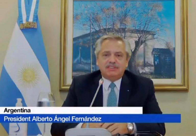 Il Presidente Fernandez parla alla nazione