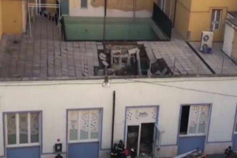 Livorno crolla tetto asilo