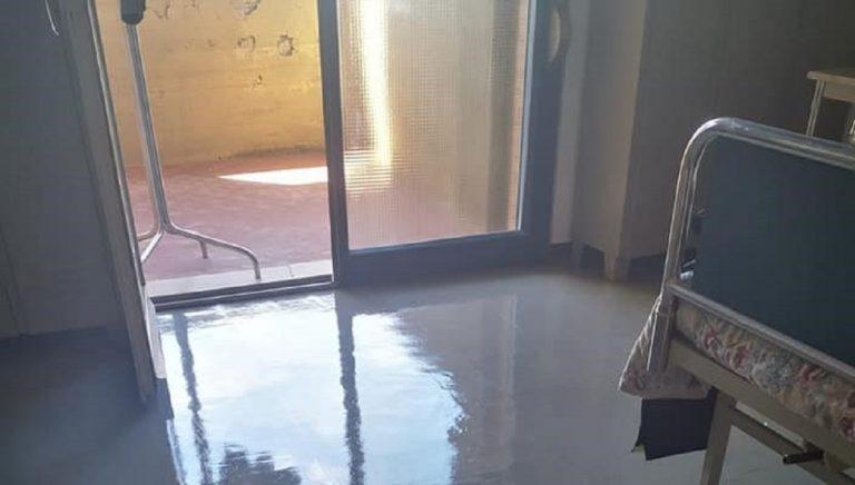 Interno dell'ospedale di Locri