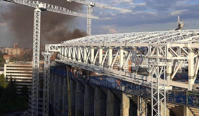 Madrid incendio Bernabeu