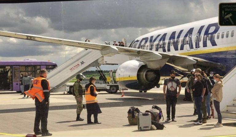 Minsk volo Ryanair dirottato