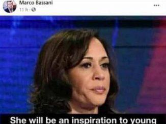 Il post incriminato condiviso da Bassani
