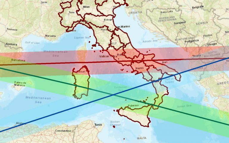 razzo cinese italia