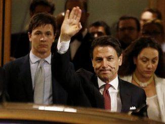 Andrea Benvenuti e Giuseppe Conte