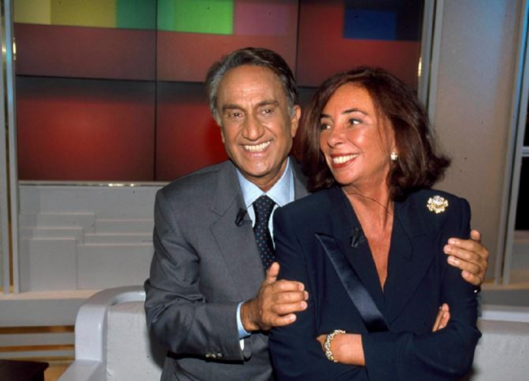 Emilio Fede con la moglie, Diana De Feo