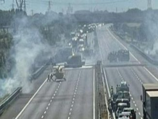 Incidente A1 camion fiamme