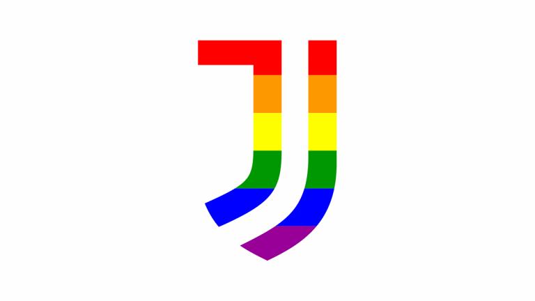 Juventus logo arcobaleno