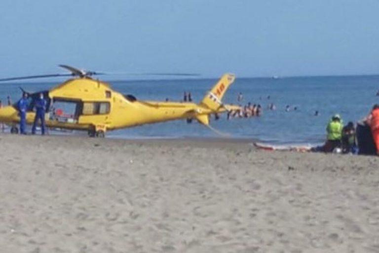 Malore spiaggia Torvaianica