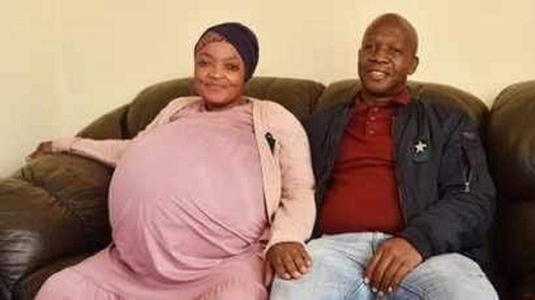 La neo super mamma con il papà