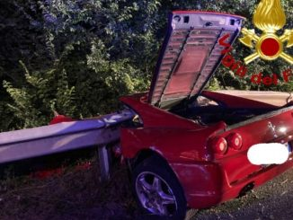Morto su una Ferrari