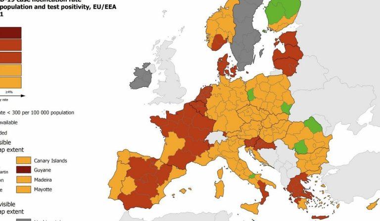 covid mappa UE Italia