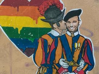 Murale di Laika a Roma