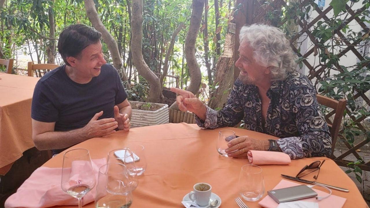Beppe Grillo e Giuseppe Conte