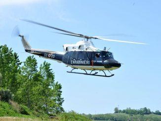 Vleivolo del pusher intercettato da un elicottero dei Carabinieri
