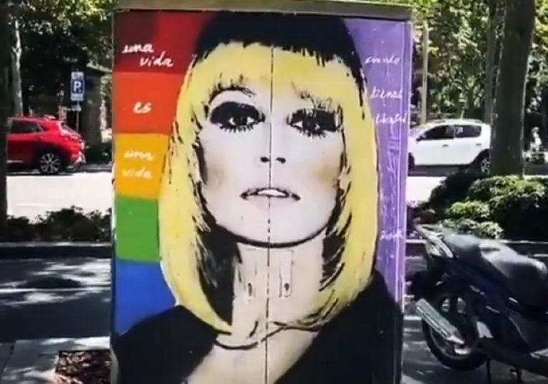 Il Bellissimo tema del murales dedicato a Raffaella Carrà