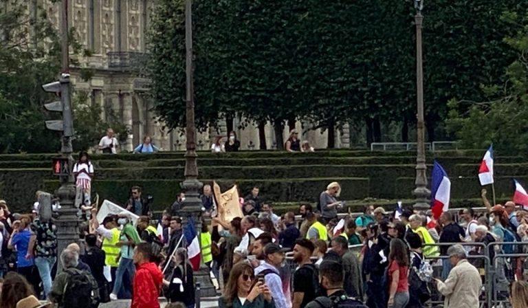 Francia no vax protesta