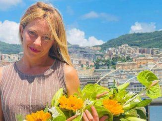 Giorgia Meloni, leader di FdI, a Genova