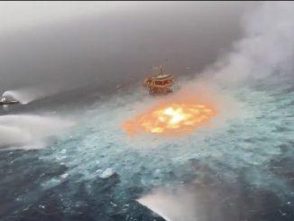 Incendio gasdotto sottomarino nel Golfo del Messico