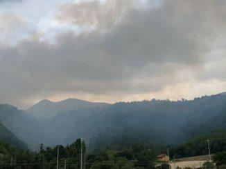 Incendio pineta L'Aquila
