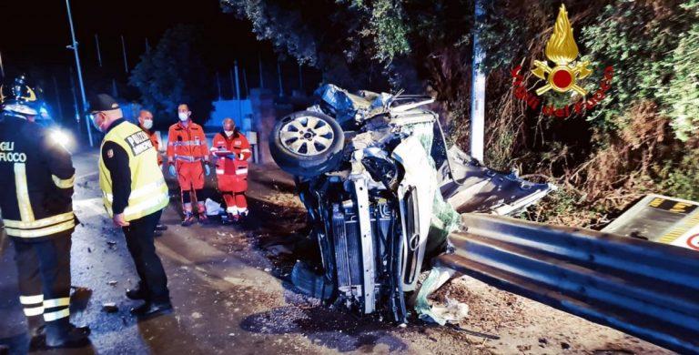 Gravissimo incidente stradale a Li Punti: morti due uomini di Sassari