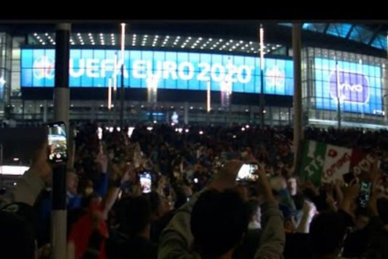 Tifosi Wembley contagi