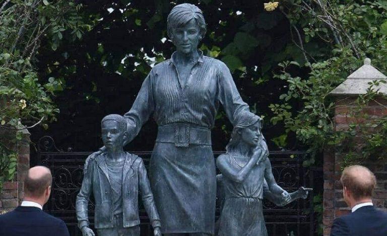 La statua di Lady D a Kensington Garden