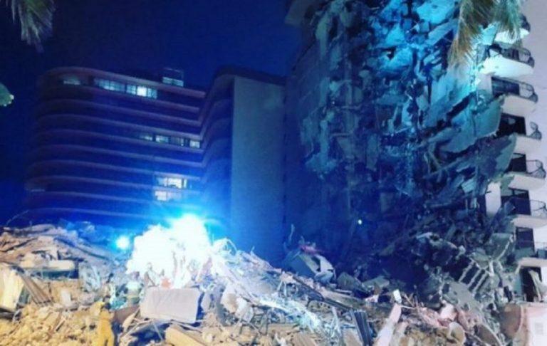 Crollo palazzo a Miami: ricerche sospese, il palazzo sarà demolito