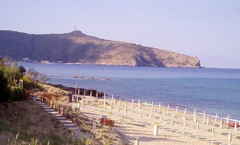 La spiaggia delle Saline a Palinuro