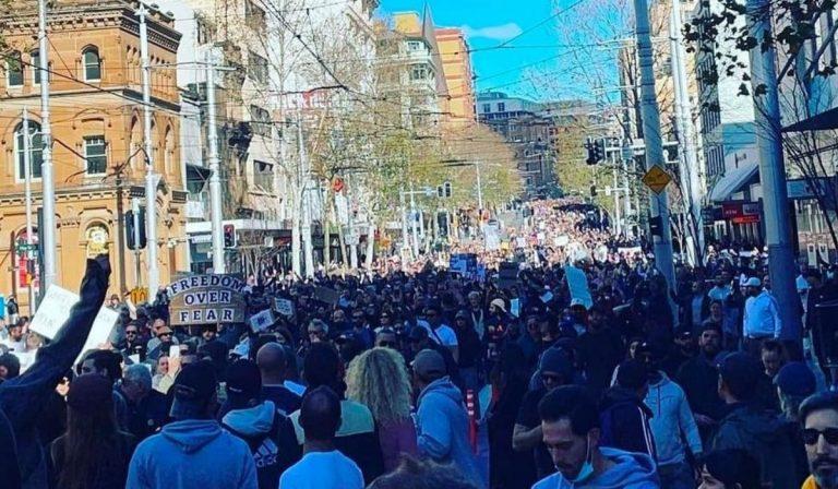Proteste lockdown Australia