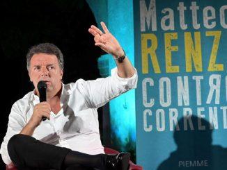 Matteo Renzi alla presentazione del suo libro a Castenedolo