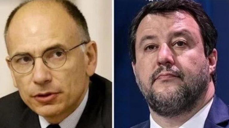 Matteo Salvini ed Enrico Letta