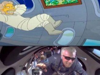 Simpson viaggio Richard Branson