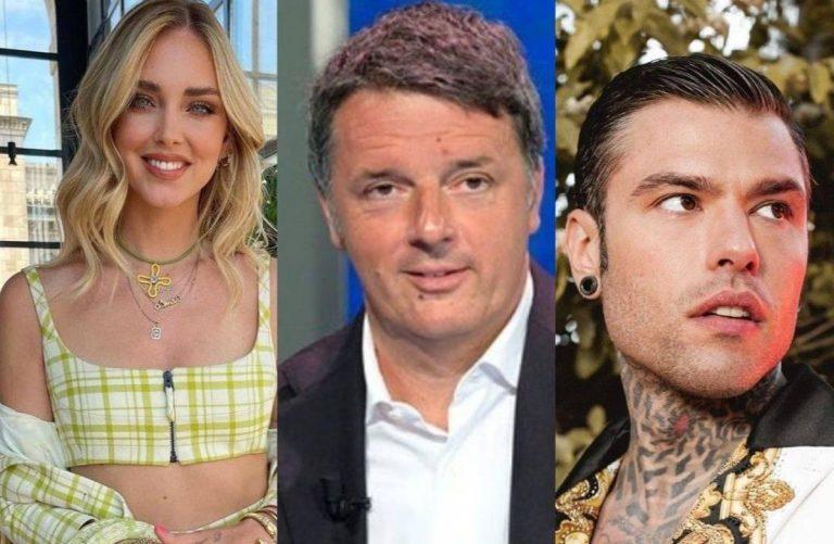 Scontro a tre tra Ferragni, Renzi e Fedez