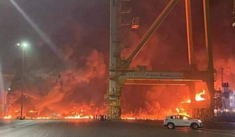 esplosione Dubai