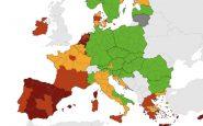 mappa rischio Covid Europa