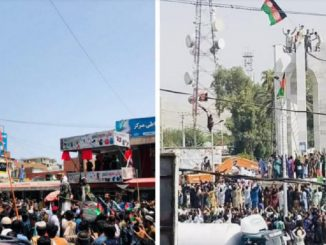 Afghanistan talebani sparano folla
