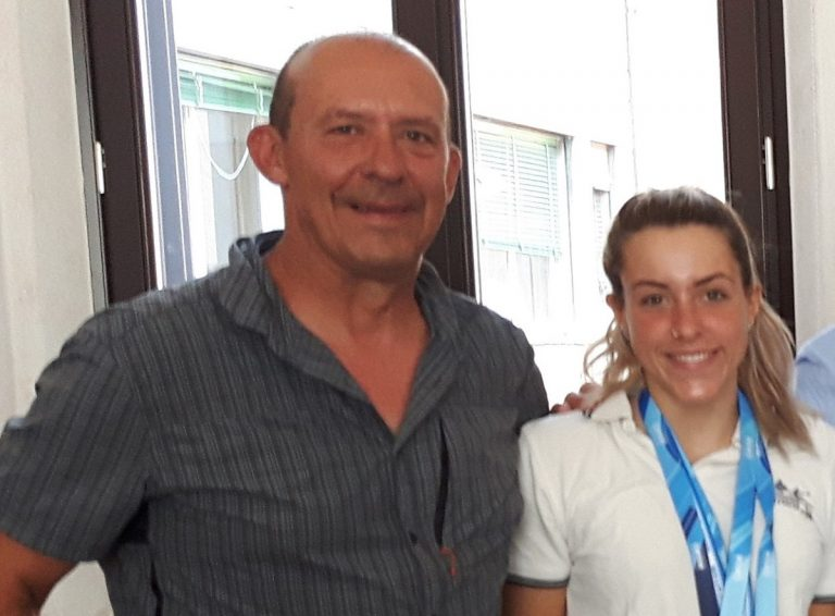 Luca Bertoncelli con la figlia Marta
