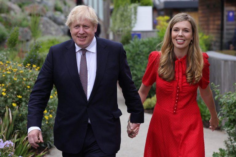 Boris Johnson e sua moglie Carrie