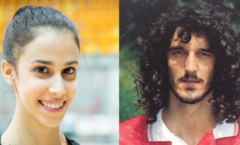 Martina Centofanti e papà Felice in gioventù